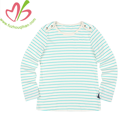 boy's  stripe long sleeve t shirt