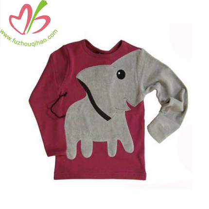 Cute Elephant Boy Long Sleeve shirt