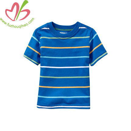 comfortable boy's stripe t shirt