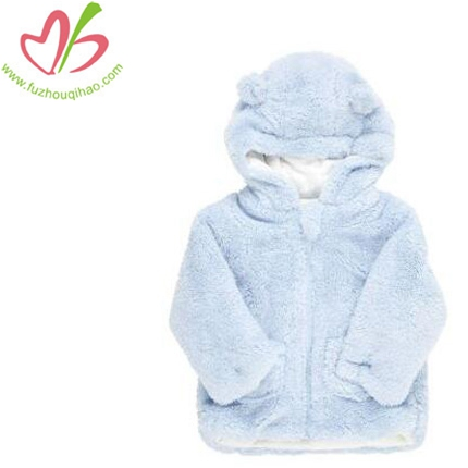 Light blue boys warm fleece cute coat