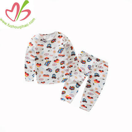 Full Printing Long Sleeves Boy Pajamas, Boy Sleeping Wear