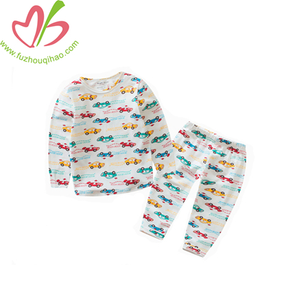 Boy Sleeping Wear Sets with Colorful Full Printing