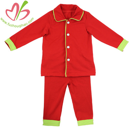 Christmas Color Boy's Pajamas Set
