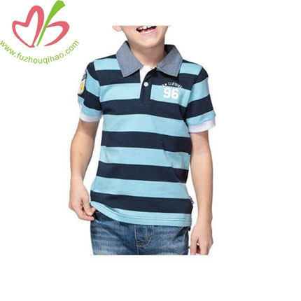 New Clothes Children Long-sleeved stripe POLO Shirt