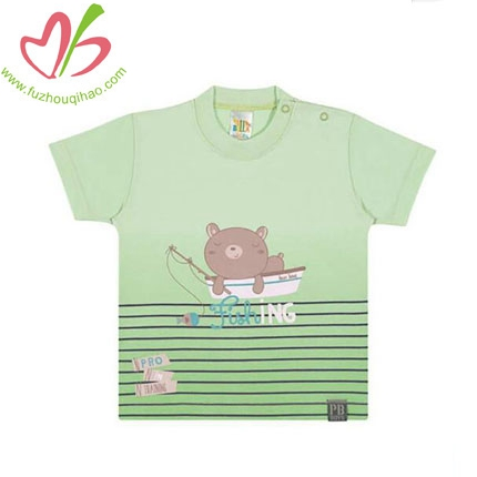 Fishing Bear Graphic Tee for Baby Boy