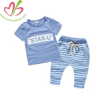 Baby Summer Wear Short Sleeve Children Suit