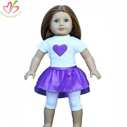 Purple Heart Applique American Doll Clothing Set