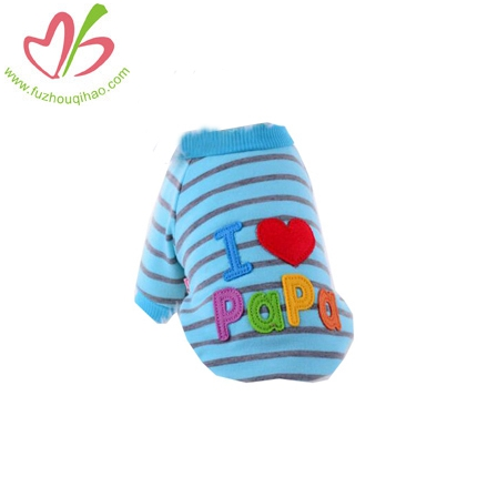 Embroider Stripe Dog Clothes