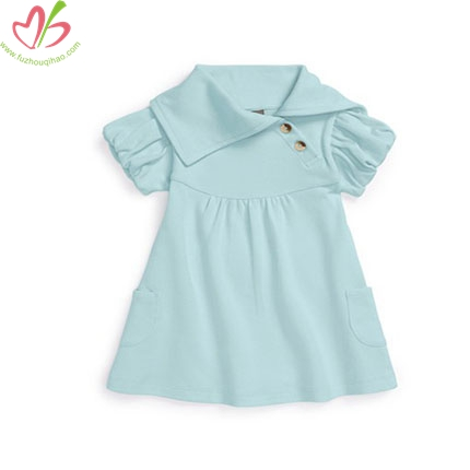 Special Neck Designs Aqua Baby Girl's Tunic