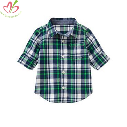 100% Cotton Gingham Boy's Shirt