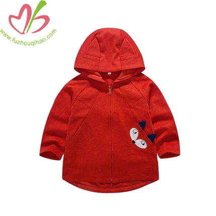 Children's Cartoon Zipper Unlined Upper Garment