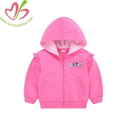 Autumn Long-sleeved Jacket Zipper unlined Of Children Fleece Jacket