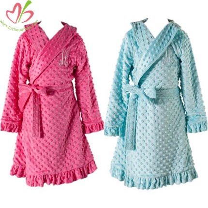 Minky Dots Children Bath Robe