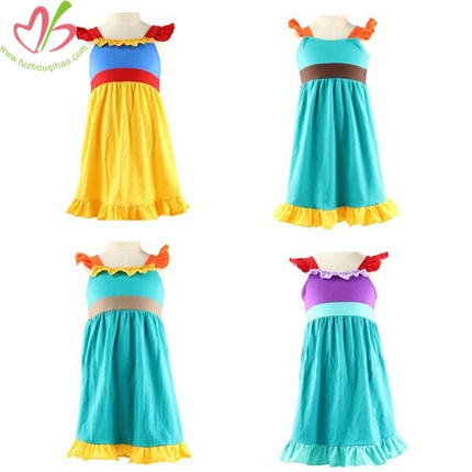 Cotton/Spandex Jersey Summer Children Dress